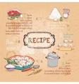 food ingredients recipe vector image vector image