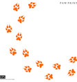 fox paw prints silhouette vector image vector image