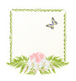 frame cherry blossom and jasmine with butterflies vector image vector image