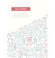 Halloween - line design brochure poster template vector image vector image