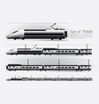 high speed train on a rail road vector image vector image