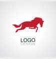 horse logo vector image