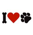 i love pets symbol vector image