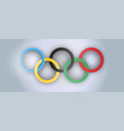 international olympic day realistic holiday vector image vector image