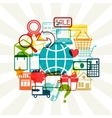 Internet shopping concept background vector image vector image
