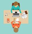 job interview design vector image vector image