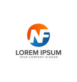 letter nf logo design concept template vector image