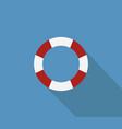 life buoy icon vector image vector image