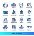 line color gradient side school icons vector image