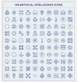 made made artificial intelligence icons vector image