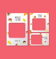 menu template for dessert vector image