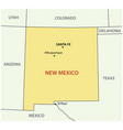 new mexico - state usa vector image vector image