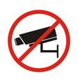 no security camera sign vector image