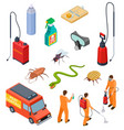 pest control isometric insect fumigation rodent vector image vector image