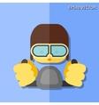 pilot flat icon vector image