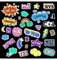 Pop art set with fashion patch badges Stickers vector image vector image