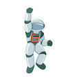 professional spaceman in modern pressure suit vector image vector image