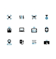 Quadcopter duotone icons on white background vector image vector image