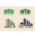 Real estate logo eco home vector image vector image