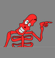 red skeleton vector image vector image