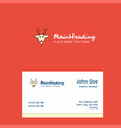 reindeer logo design with business card template vector image vector image