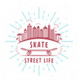 retro of skateboarding badge vector image vector image