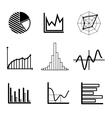 set graphs and charts vector image vector image