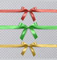 set of realistic red green and yellow vector image vector image
