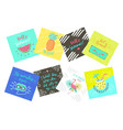 set of summer color hand-lettering labels and vector image vector image