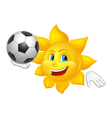 sun is playing football vector image