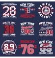 Teeshirt print designs set vector image vector image