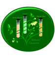The natural green cosmetic vector image vector image