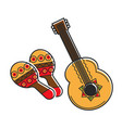 traditional national mexican instruments with vector image vector image
