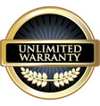 unlimited warranty icon vector image vector image