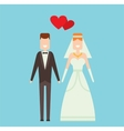 Wedding couple cartoon style vector image vector image