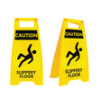 yellow slippery floor sign vector image
