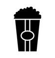 popcorn silhouette icon vector image