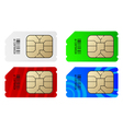 Set of color SIM cards vector image