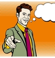 Businessman with hand pointing finger vector image