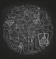 chemistry lab sketch banner vector image