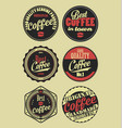 coffee vintage retro labels 3 vector image