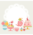 Easter tea party vector image
