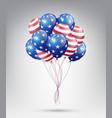 flying glossy usa flag pattern balloons vector image