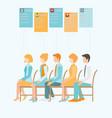 job recruitment flat banner vector image