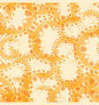 abstract peach seamless pattern of gears and vector image vector image