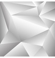 abstraction of grey and white polygon shape vector image vector image