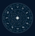 astrology zodiac signs circle horoscope wheel vector image