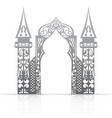 Background with arch in the Asian style vector image vector image