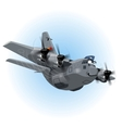 Cartoon Cargo Airplane vector image vector image