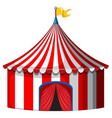 circus tent in red and white color vector image vector image